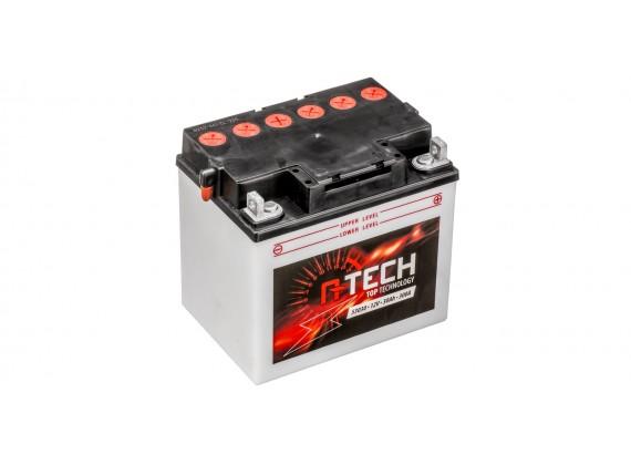 baterie 12V, 53030, 30Ah, 300A, pravá, konvenční 186x130x171, A-TECH (vč. balení elektroly