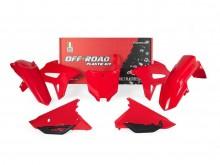 sada plastů Honda, RTECH (červená, 6 dílů, vč. krytů vzduch filtru)
