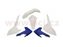 sada plastů Husqvarna, RTECH (modro-bílá, 4 díly)