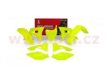sada plastů Honda, RTECH (neon žlutá, 6 dílů, vč. krytů vzduch filtru)
