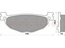 brzdové destičky, ACCOSSATO (směs ST sintered metal) 2 ks v balení