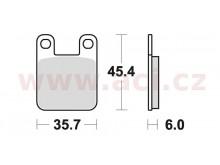 brzdové destičky, BRAKING (semi-metalická směs SM1) 2 ks v balení