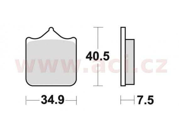 brzdové destičky, BRAKING (sinterová směs CM55) 4 ks v balení