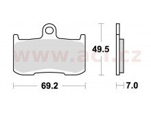 brzdové destičky, BRAKING (sinterová směs CM55) 2 ks v balení