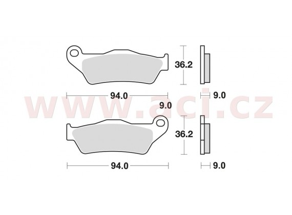 brzdové destičky, BRAKING (sinterová směs CM56) 2 ks v balení