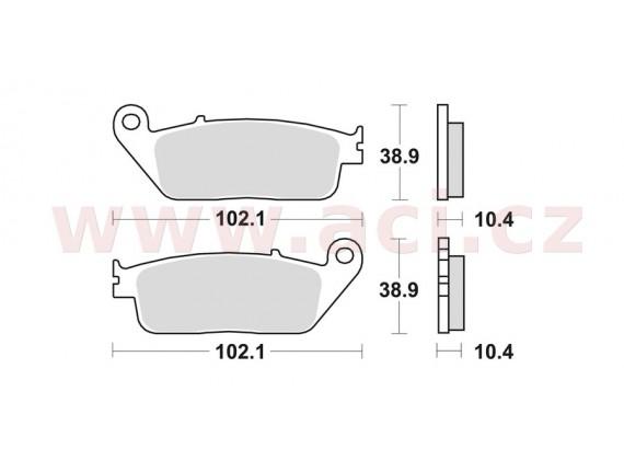 brzdové destičky, BRAKING (sinterová směs P30) 2 ks v balení