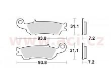 brzdové destičky, BRAKING (sinterová směs CM46) 2 ks v balení