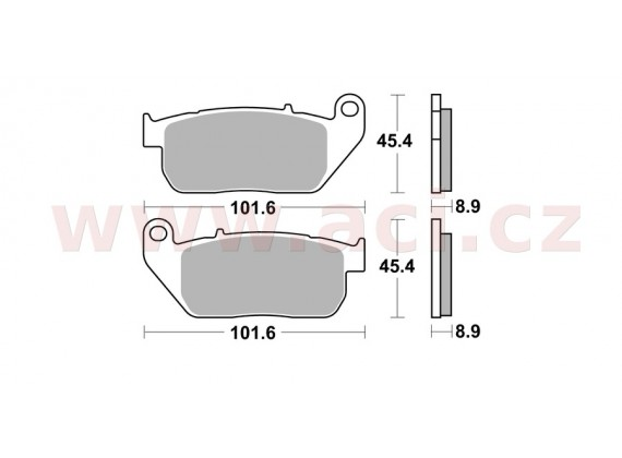 brzdové destičky, BRAKING (sinterová směs CM77) 2 ks v balení