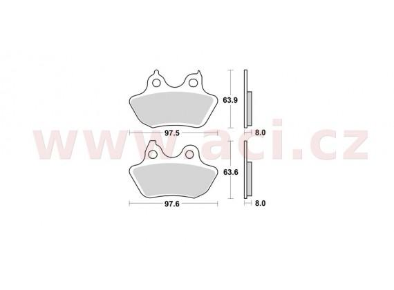 brzdové destičky, BRAKING (sinterová směs CM88) 2 ks v balení