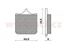 brzdové destičky (směs ST sintered metal S2) NEWFREN (4 ks v balení)