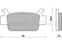 brzdové destičky (směs ST sintered metal S2) NEWFREN (2 ks v balení)