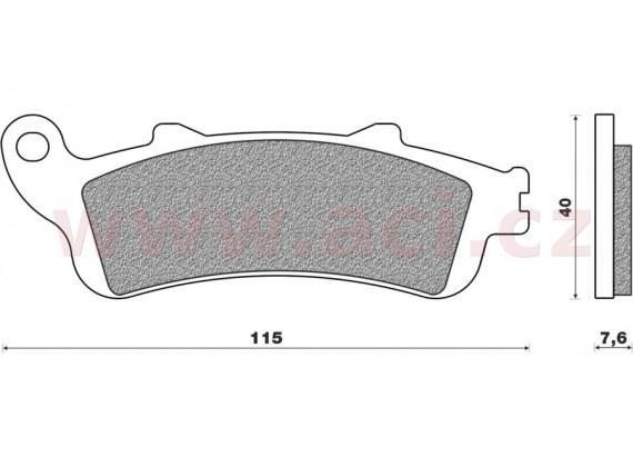brzdové destičky (směs ROAD TT PRO SINTERED) NEWFREN (2 ks v balení)