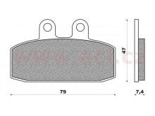 brzdové destičky (směs OFF ROAD DIRT ORGANIC) NEWFREN (2 ks v balení)