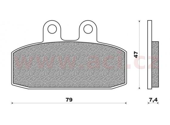 brzdové destičky (směs SCOOTER ELITE ORGANIC) NEWFREN (2 ks v balení)