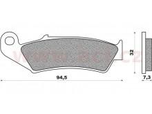 brzdové destičky (směs OFF ROAD DIRT SINTERED) NEWFREN (2 ks v balení)