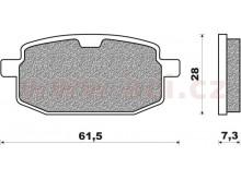 brzdové destičky (směs SCOOTER ACTIVE ORGANIC) NEWFREN (2 ks v balení)