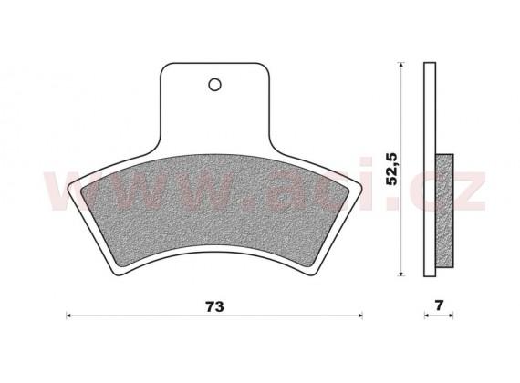 brzdové destičky (směs OFF ROAD ATV SINTERED) NEWFREN (2 ks v balení)