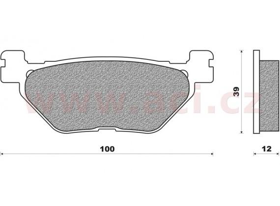 brzdové destičky (směs SCOOTER ELITE SINTERED) NEWFREN (2 ks v balení)