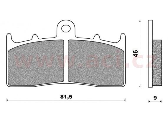 brzdové destičky (směs ROAD TOURING SINTERED) NEWFREN (2 ks v balení)