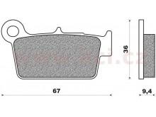 brzdové destičky (směs OFF ROAD DIRT RACE SINTERED) NEWFREN (2 ks v balení)