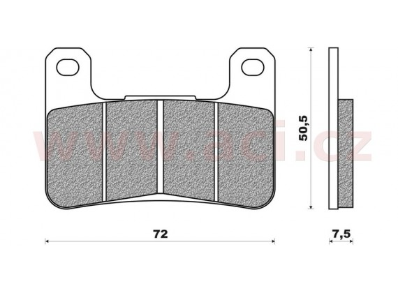 brzdové destičky (směs ROAD RACE SINTERED) NEWFREN (2 ks v balení)