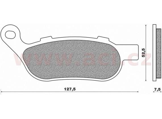 brzdové destičky (směs ROAD HD SINTERED) NEWFREN (2 ks v balení)