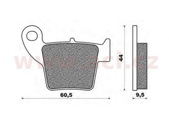 brzdové destičky, NEWFREN (směs OFF ROAD DIRT ORGANIC) 2 ks v balení