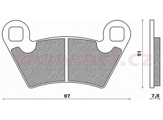 brzdové destičky (směs ST sintered metal SCS) NEWFREN (2 ks v balení)