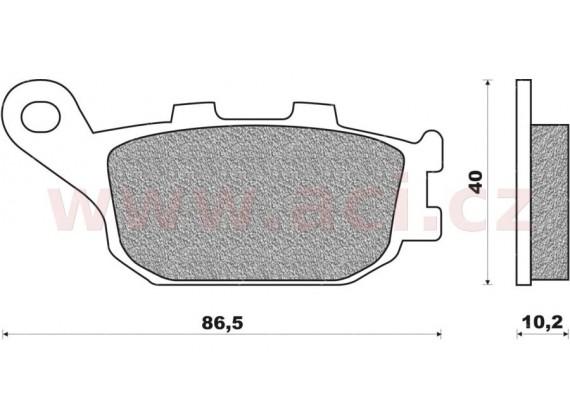 brzdové destičky (organická směs) NEWFREN (2 ks v balení)
