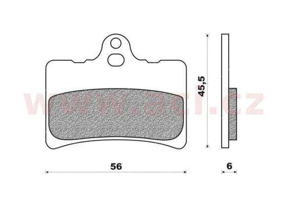 brzdové destičky (směs organická + kevlar) NEWFREN (2 ks v balení)