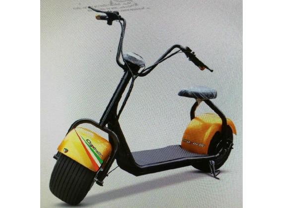 Elektrická Harley koloběžka Capirelli-zlatá