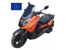 New Maximus  II - 125 ccm - oranžová/černá - EURO 5