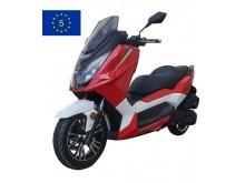 New Maximus  II - 125 ccm - červená/bílá - EURO 5