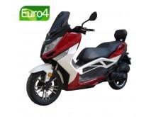 New Maximus II - 125 červená/bílá- EURO 4