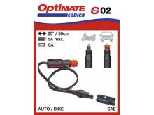 Doplnky OPTIMATE propojení s DIN zásuvkou nebo cigaretovou zásuvkou 12V (samec)