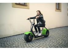 Elektrická Harley koloběžka Capirelli-zelená