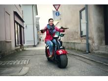Elektrická Harley koloběžka Capirelli-červená