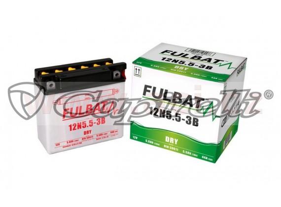 baterie 12V, 12N5.5-3B, 5,8Ah, 44A, konvenční 135x60x130, FULBAT (vč. balení elektrolytu)