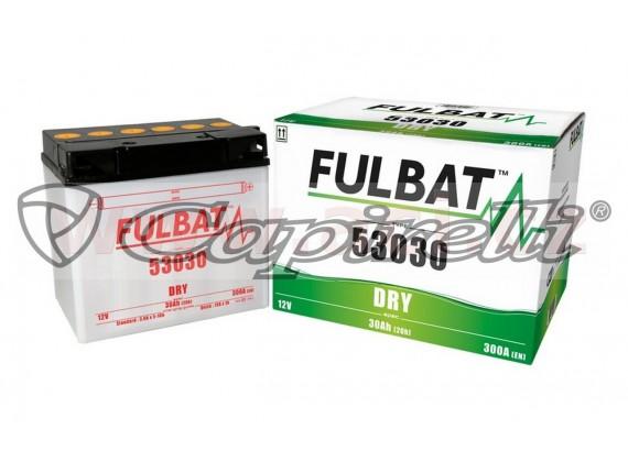 baterie 12V, 53030, 30Ah, 300A, pravá, konvenční 186x130x171, FULBAT (vč. balení elektroly