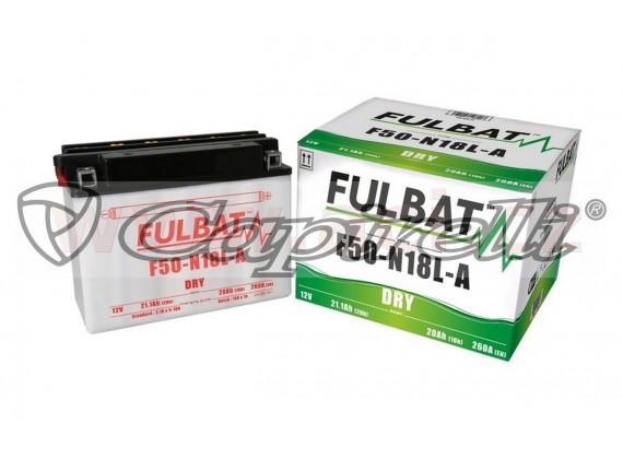 baterie 12V, F50-N18 l-A, 20Ah, 260A, konvenční 205x90x162, FULBAT (vč. balení elektrolytu