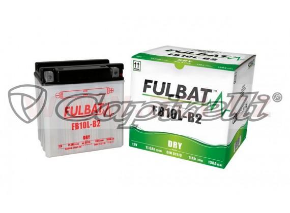 baterie 12V, FB10 l-B2, 11Ah, 130A, konvenční 135x90x145, FULBAT (vč. balení elektrolytu)