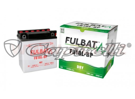 baterie 12V, FB10 l-BP, 11Ah, 130A, konvenční 135x90x145, FULBAT(vč. balení elektrolytu)
