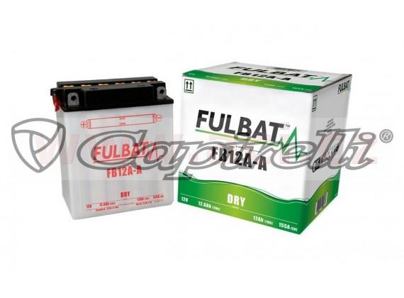 baterie 12V, FB12A-A, 12Ah, 155A, konvenční 134x80x160, FULBAT (vč. balení elektrolytu)
