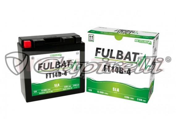 baterie 12V, FT14B-4 SLA, 12,6Ah, 210A, bezúdržbová MF AGM 184x124x170, FULBAT (aktivovaná