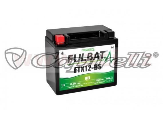 baterie 12V, FTX12-BS GEL, 10Ah, 180A, bezúdržbová GEL technologie 150x87x130 FULBAT (akti