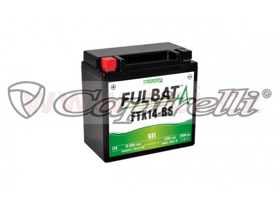 baterie 12V, FTX14-BS GEL, 12,6Ah, 200A, bezúdržbová GEL technologie 150x87x145, FULBAT (a