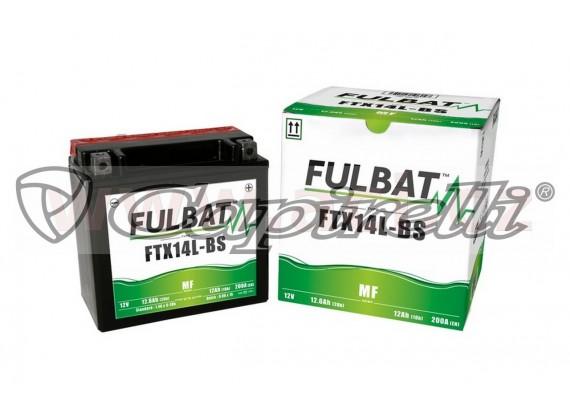 baterie 12V, FTX14 l-BS, 12,6Ah, 200A, bezúdržbová MF AGM 150x87x145 FULBAT (vč. balení el