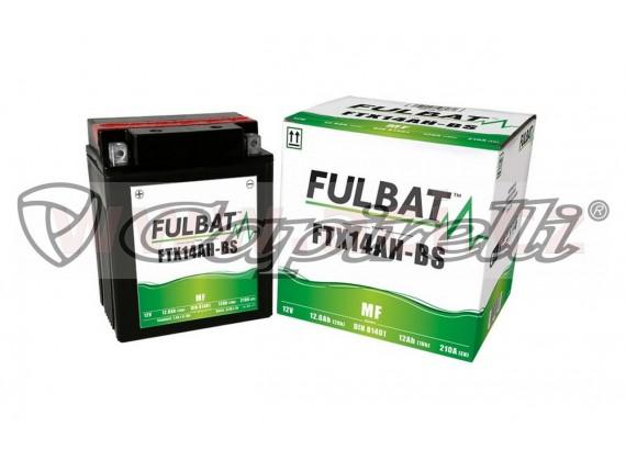 baterie 12V, FTX14AH-BS, 12Ah, 210A, bezúdržbová MF AGM 134x89x166 FULBAT (vč. balení elek