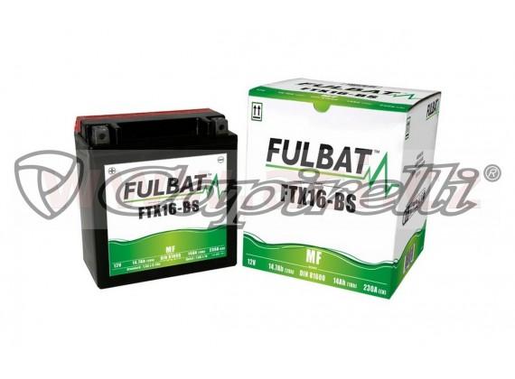 baterie 12V, FTX16-BS, 14Ah, 230A, bezúdržbová MF AGM 150x87x161 FULBAT (vč. balení elektr