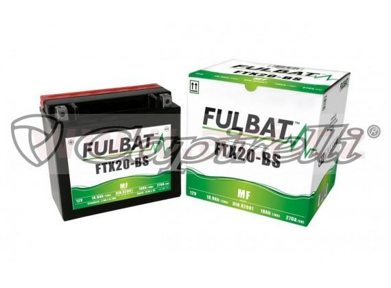 baterie 12V, FTX20-BS, 18Ah, 270A, bezúdržbová MF AGM 175x87x155 FULBAT (vč. balení elektr
